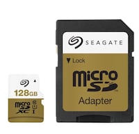two white-and-beige micro SD cards