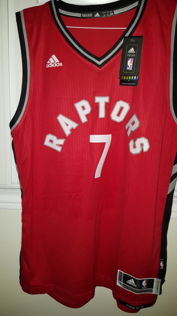c05f59fdd92 Used Red adidas kyle lowry toronto raptors away jersey for sale in ...