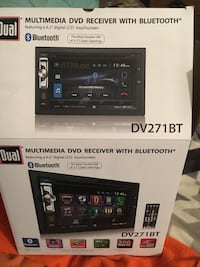 black Multimedia DVD Receiver with Bluetooth box