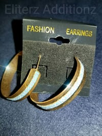 Gold/Blue Earrings  Mission, 78572