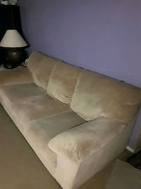 Beautiful plush couch and loveseat