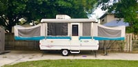 White and blue pop-up trailer Palm Bay, 32905