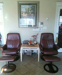 Two recliners with ottomans excellent condition