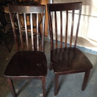 two brown wooden windsor chairs San Antonio, 78244