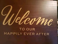 Welcome to our wedding tabletop sign Simcoe County
