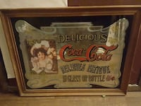 antique coca cola bar mirror  Langley City, V3A 7Z2