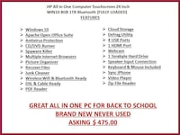 """HP All In One 24"""" Touch Screen PC Stratford, 06615"""