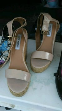 pair of brown leather open-toe sandals Holiday