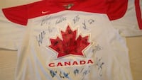 2010 Team Canada team signed white Nike jersey  Edmonton, T6H 5S6