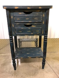 """Refinished 2 Drawer Side Table Nightstand 32"""" Height"""