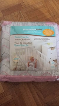 Breathable mesh crib liner /never used Toronto, M9R