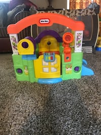 yellow and blue Little Tikes plastic toy