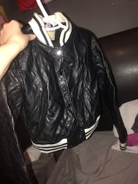 Black leather button up jacket St Catharines, L2M 1B5
