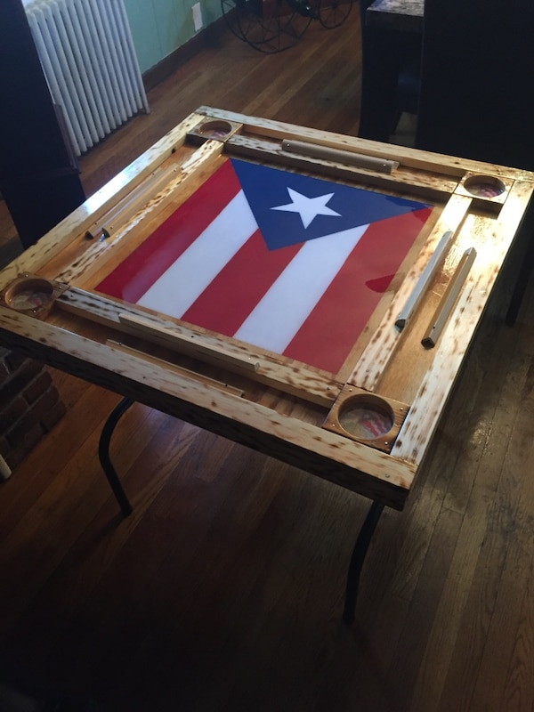 Puerto Rico Flag Domino Table