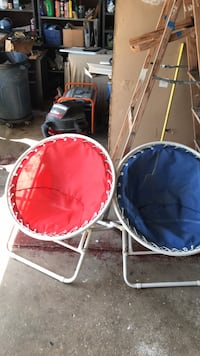 Two outdoor chairs , hardly used