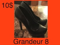 pair of black leather platform stilettos Saint-Lin-Laurentides, J5M