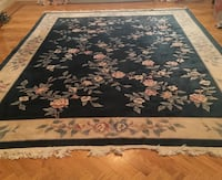 Forest green floral rug Woodbury, 11797