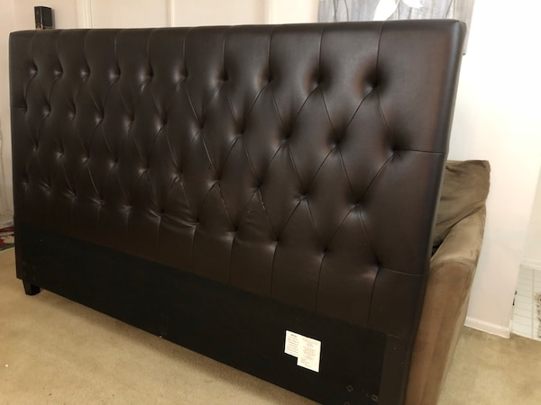 leather king size bed headboard