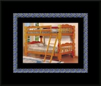 Wooden Twin bunkbed frame with 2 mattress New Carrollton