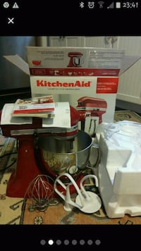 red and white Kitchen Aid stand mixer Newport News, 23601
