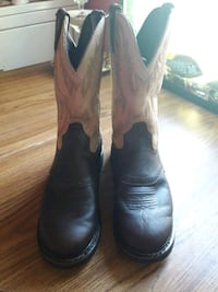 Used Justin Work Boots From Tractor Supply Size 8 1 2 For