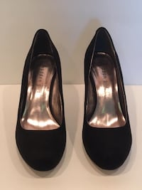 Ladies Shoes:  New Black Suede heel pumps by Madden Girl Size 7  Lansdowne