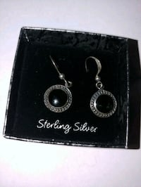 STERLING SILVER WITH BLACK ONYX EARRINGS Berkeley Township, 08721