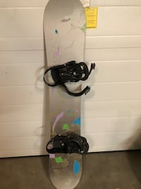 black and blue snowboard with bindings Spruce Grove, T7X 0B5