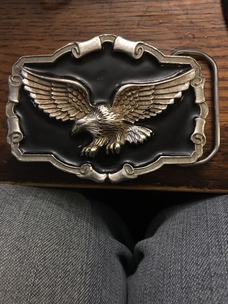 Budweiser Belt Buckle Authentic Solid Pewter