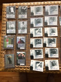 assorted Golf autographed cards