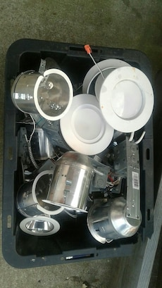 A full tub of recessed lighting taking offers