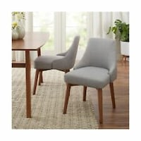 Better Homes & Gardens Reed Mid Century Modern Dining Chair, Set of 2, Smoke (New in Box) Fort Wayne