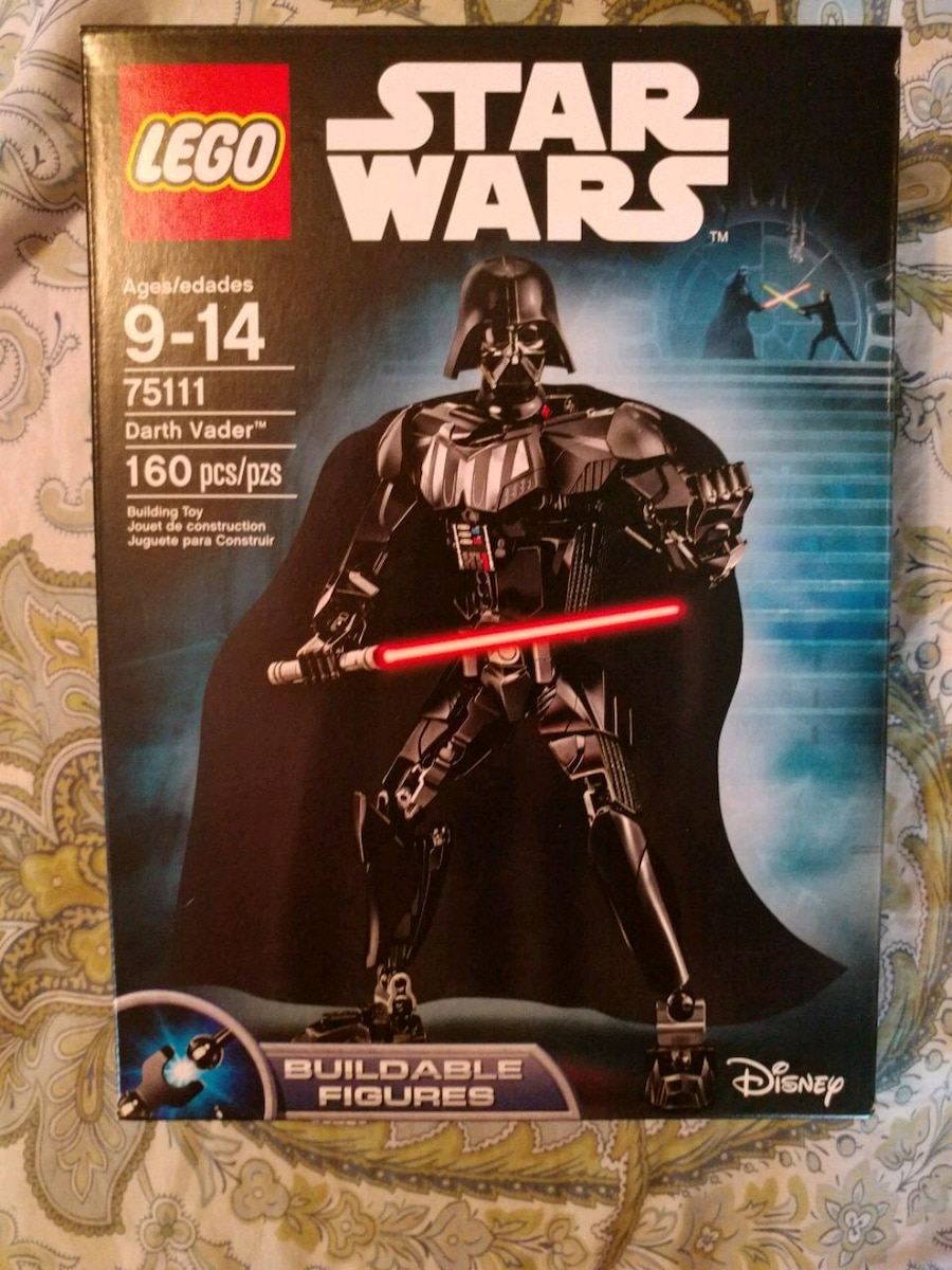 """Ages 9-14 Lego 75111 Star Wars Buildable /""""Darth Vader/"""" Figure 160 Pcs NEW"""