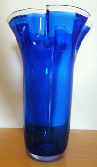 Sapphire Crystal Hand Crafted Vase