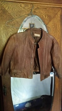 Brown leather jacket Dome Valley, 0981