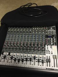 16 channel powered audio mixer