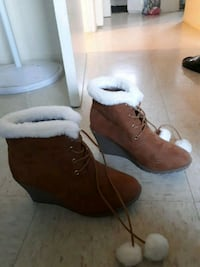 pair of brown suede boots Dartmouth, B3A