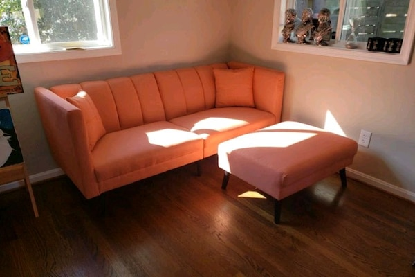 Couch and ottoman (also folds out to bed) b72d52bf-9292-4a89-8c6d-08c4af45416c
