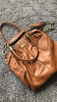Coach Brown leather 2-way handbag