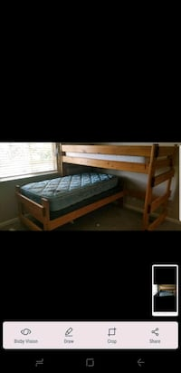 varnished pine twin and bunk bed set Modesto, 95355
