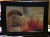 brown wooden framed painting of trees Fort Erie, L0S 1N0