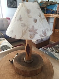white and brown table lamp WHITEMARSH