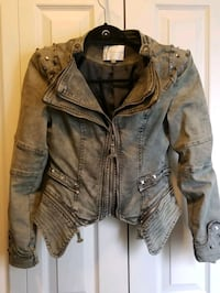 Jean jacket green size small