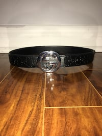 100% authentic black and silver Gucci belt size: 30-38 Toronto, M4C