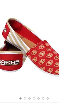 NFL Womens Canvas Stripe Slip On Shoes