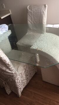 Rectangular clear glass top coffee table Council Bluffs, 51501