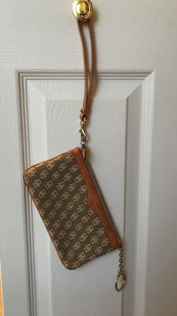 Monogrammed brown dooney & bourke wristlet East Nottingham, 19363