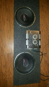 """Audiobahn 12"""" subs and amplifier"""
