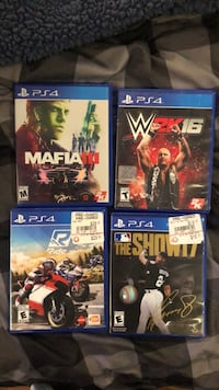four Sony PS4 game cases Odenton, 21113