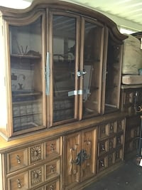 Dining room table chairs and china cabinet set NEED GONE ASAP East Patchogue, 11772